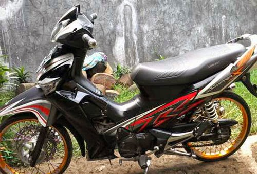 Modifikasi Honda Supra X 125 R CW Terbaru 2014