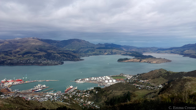 Cable car overlooking Lyttleton Harbour