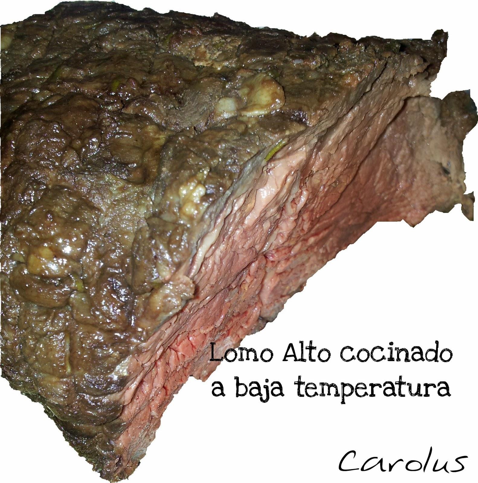 Lomo alto cocinado a baja temperatura carolus cocina for Cocina baja temperatura