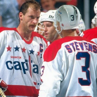All Caps:  Rod Langway and Scott Stevens, a pair of Hall of Fame defensemen