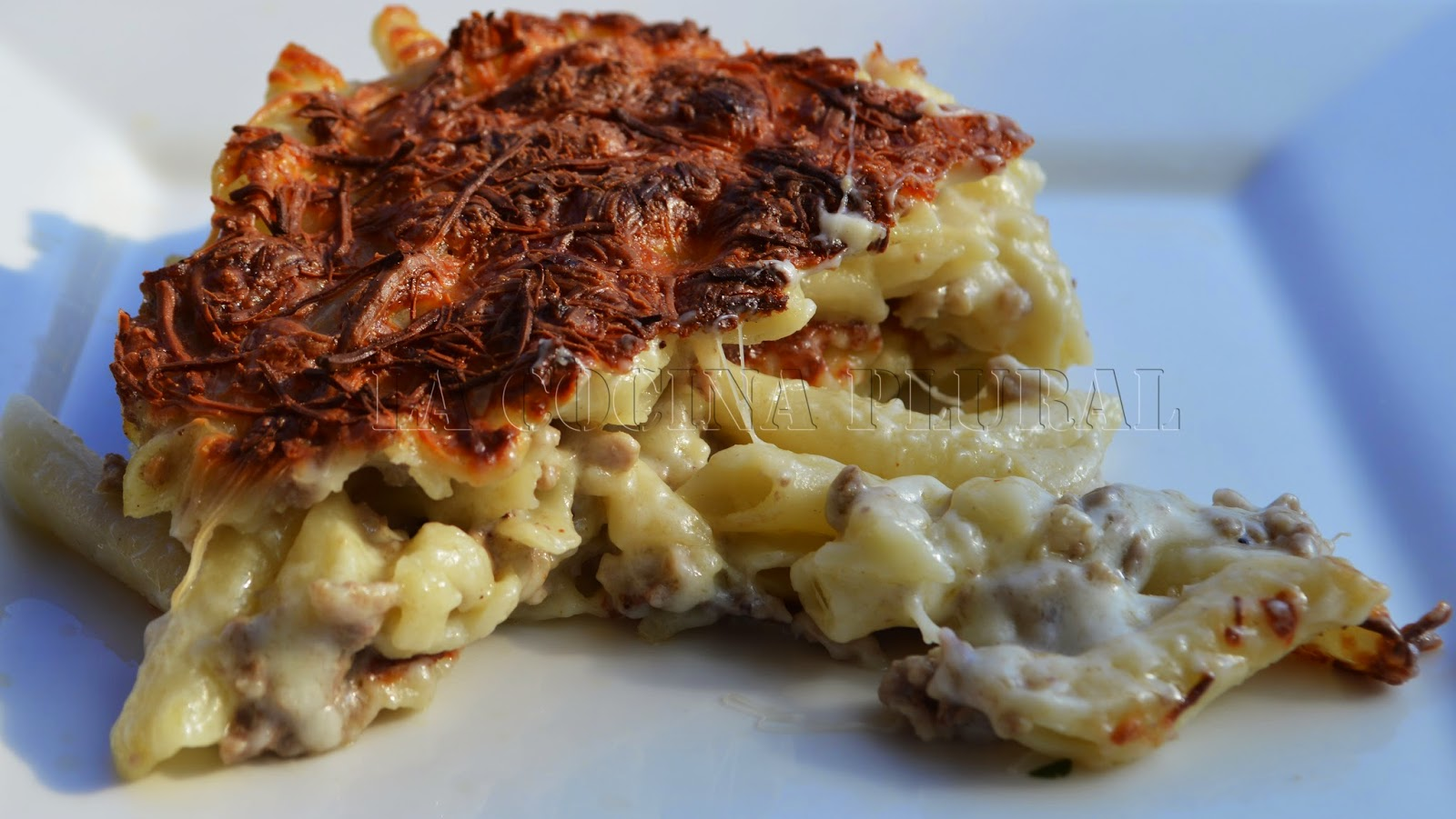 La cocina plural macarrones con ternasco al horno y doble - Macarrones con verduras al horno ...