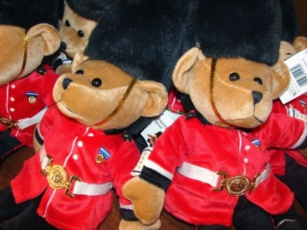 Bears dressed in Guards-like uniform