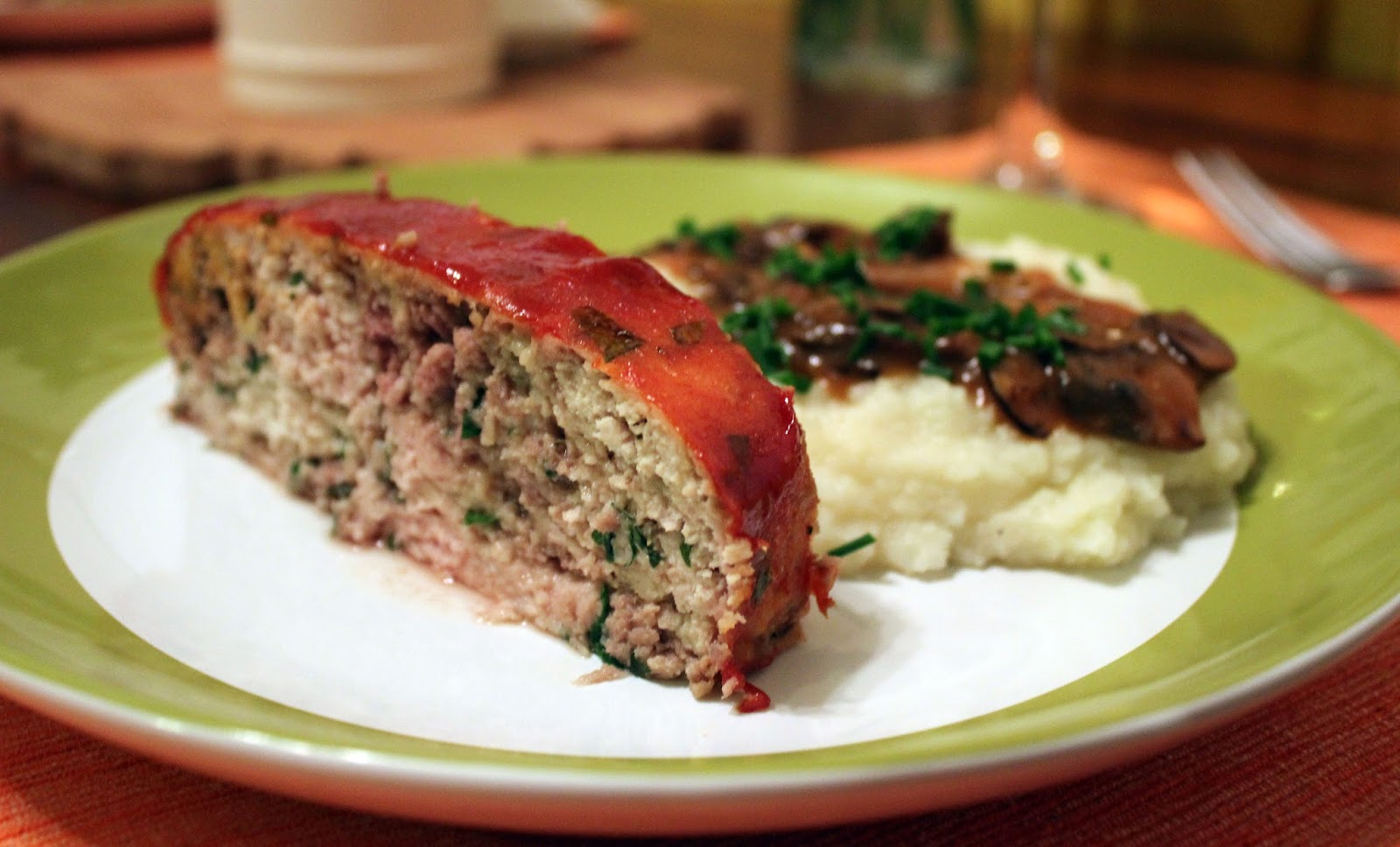 We served the meatloaf with Buttermilk Mashed Potatoes and Cauliflower ...