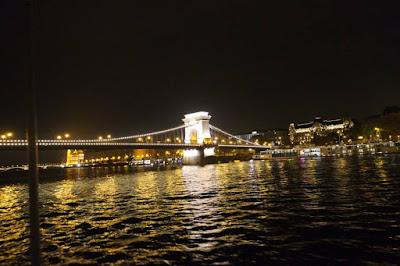 The Chain Bridge in Budapest Hungary