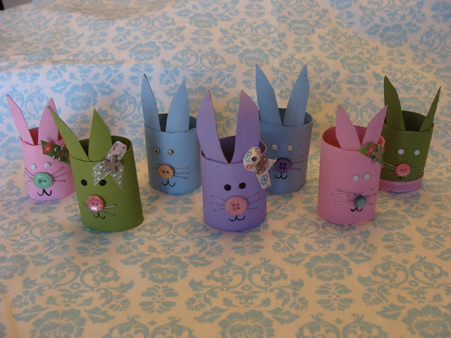 Preschool crafts for kids recycled toilet roll easter