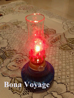 Lampu Teplok Elektrik diyalakan dalam keadaan terang