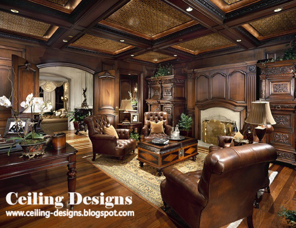 modern false ceiling designs for living room from wood
