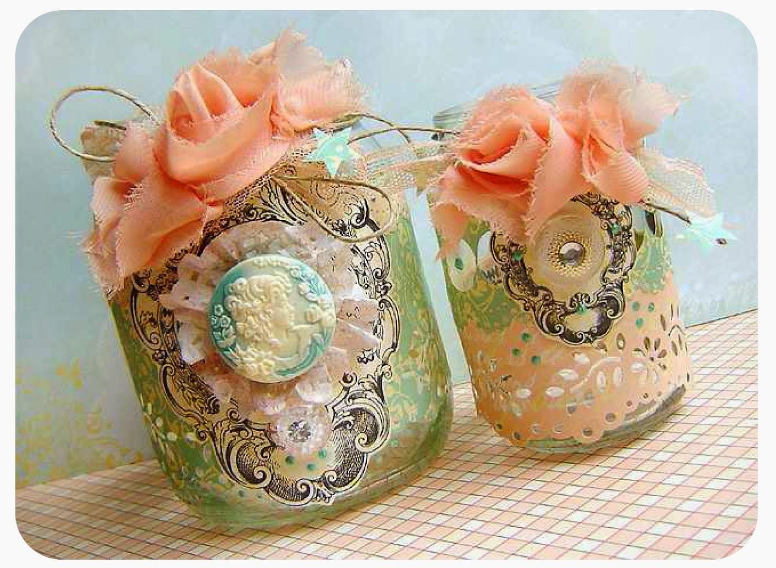 Как украсить стеклянную вазу своими руками кружевом