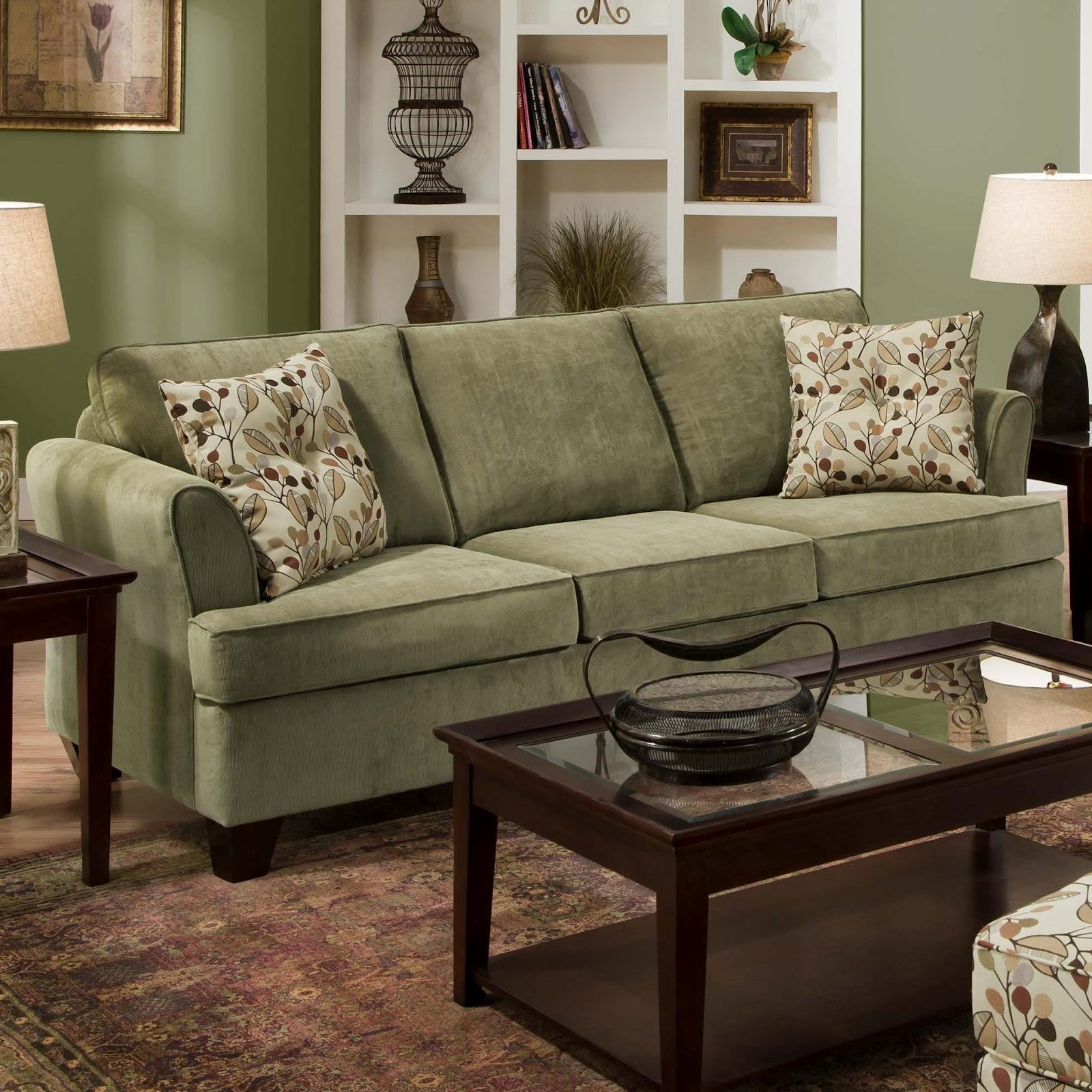 Knoxville Wholesale Furniture Shown In Santa Rosa Thistle Microfiber Fabric United Furniture
