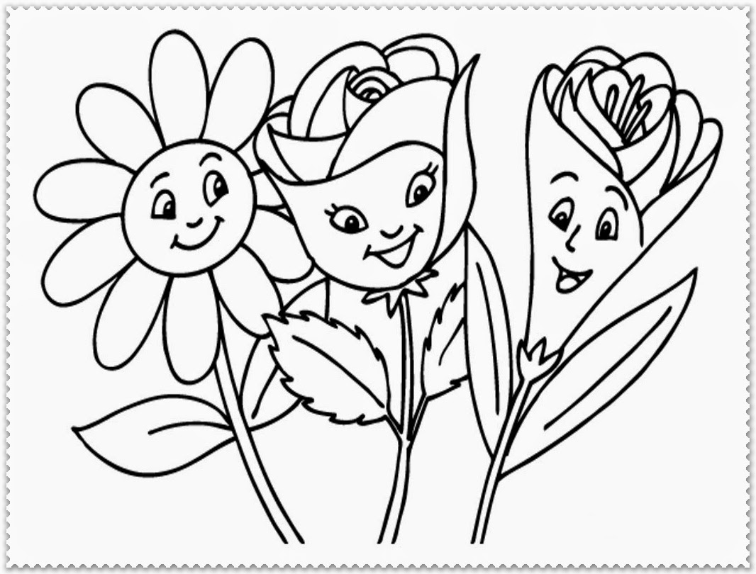 springtime flower coloring pages