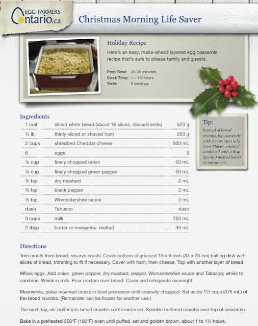 egg recipe casserole