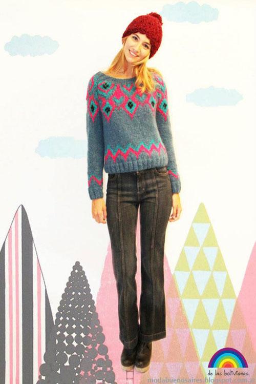 Sweaters invierno 2013 moda De las Bolivianas