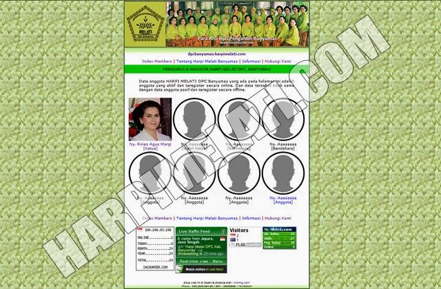 Website : Harpi Melati Banyumas - http://dpcbanyumas.harpimelati.com Sudah mulai Online sejak : 24 Oktober 2014