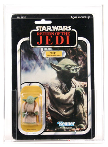PROXIMAMENTE! STAR WARS VINTAGE RETURN OF THE JEDI - YODA (BROWN SNAKE) AFA GRADED