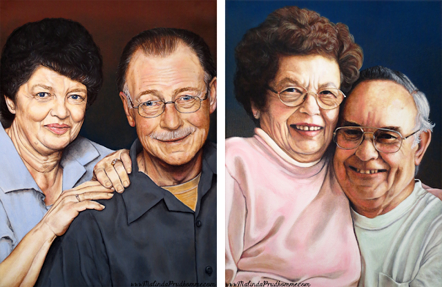 a love filled project, oil painting, portrait artist, portrait painting, elderly portrait, elderly couple, custom portraits, custom artwork