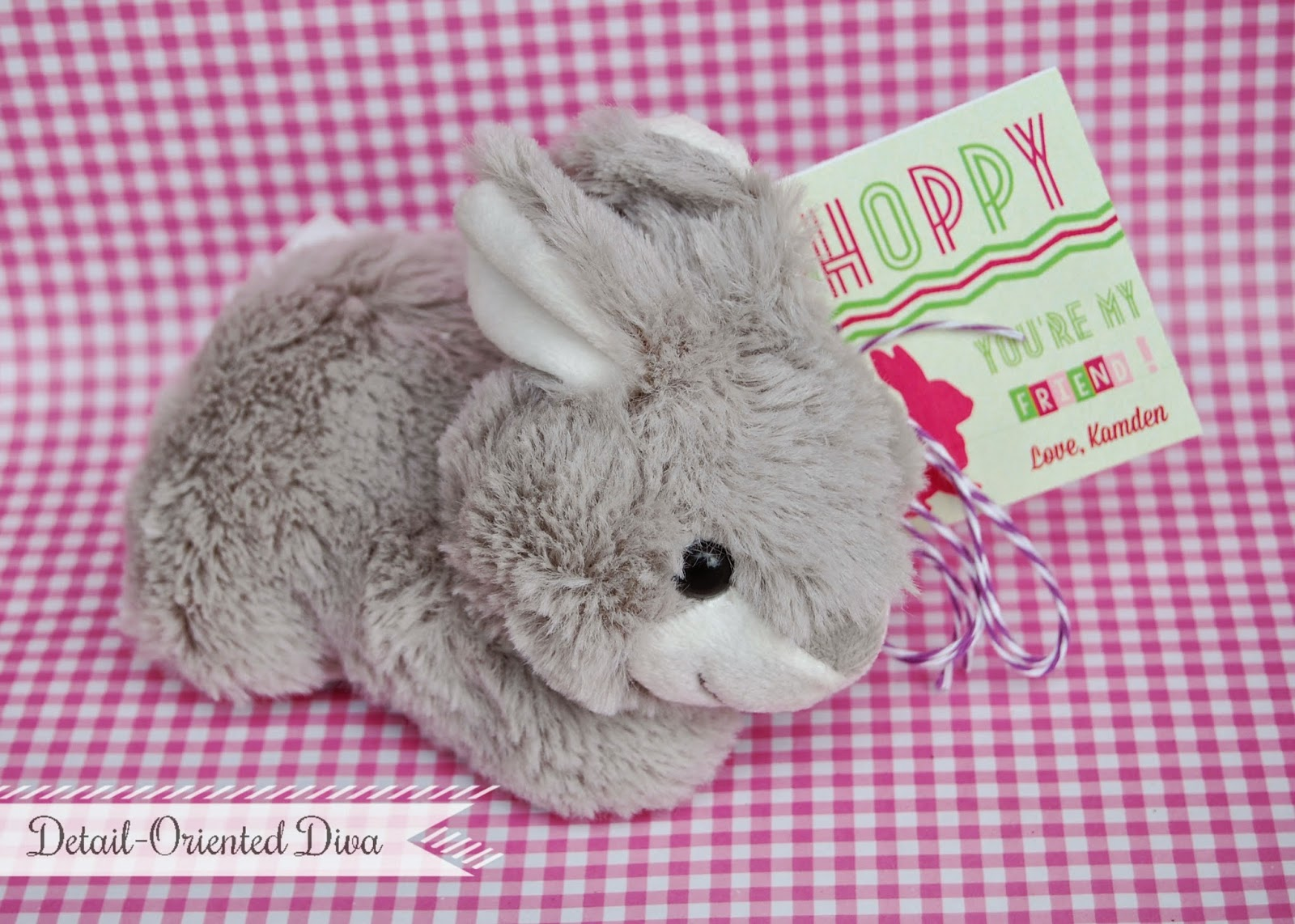 detail oriented diva just the printable and print have your special little one sign the card their own handprint bunny instructions for how to make your