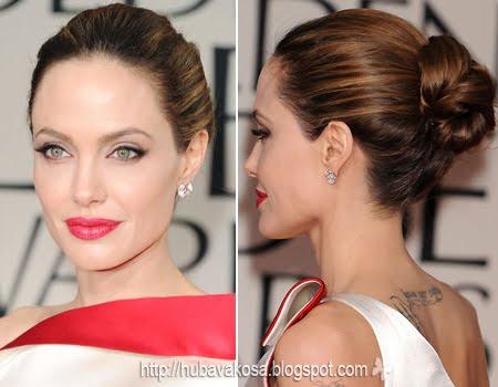 Анджелина Джоли с класически кок