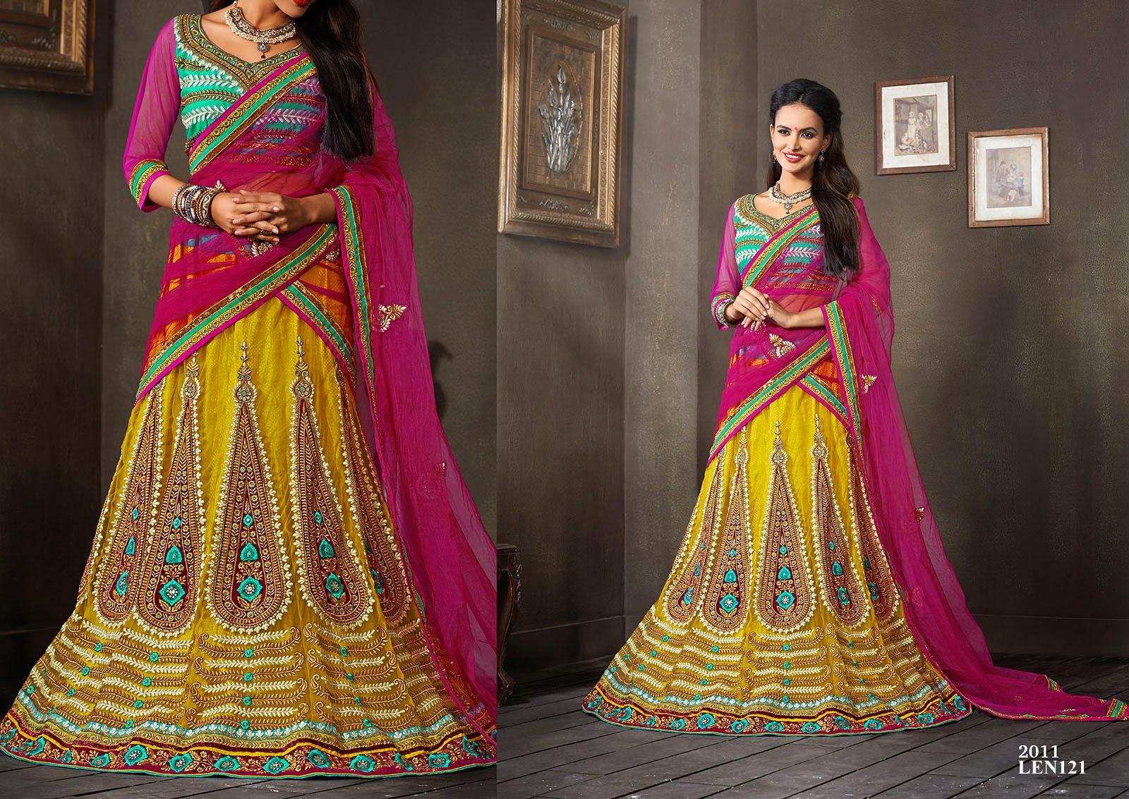 Mehndi Bridal Lehnga : Latest bridal lehenga choli for wedding manufacturer helix