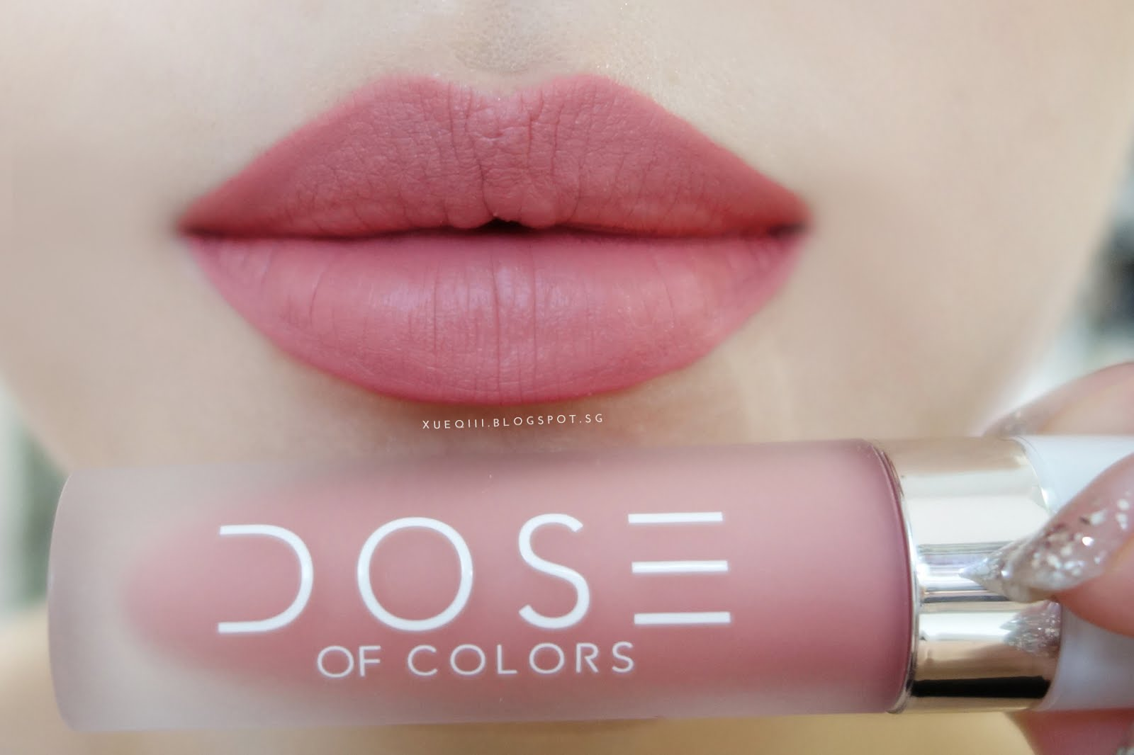 dose of colors liquid matte lipstick review and swatches xueqi 39 s beauty episode. Black Bedroom Furniture Sets. Home Design Ideas