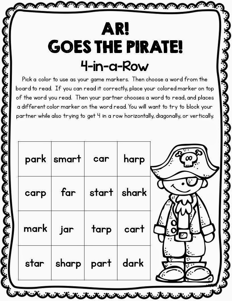 Worksheet Ar Words Phonics first grade and fabulous more with ar freebie partner game by fabulous