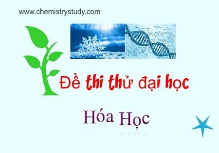 Đề thi thử đại học Hóa học chuyên Lê Khiết Quảng Ngãi