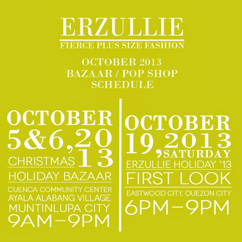 PLUS SIZE EVENT: ERZULLIE OCTOBER 2013 EVENTS!