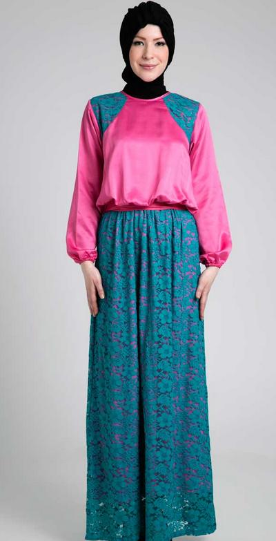 Gambar Model Baju Muslim Gamis Untuk Orang Gemuk