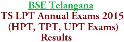 TS LPT Exams,Resuls,HPT TPT UPT Exams