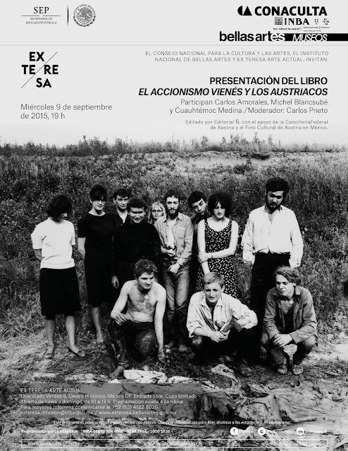 """Presentación del libro """"El accionismo vienés y los austriacos"""" en el Ex Teresa Arte Actual"""