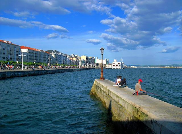 Paseo del Muelle de Calderon en Santander