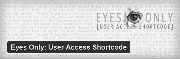Eyes Only: User Access Shortcode plugin for bbPress