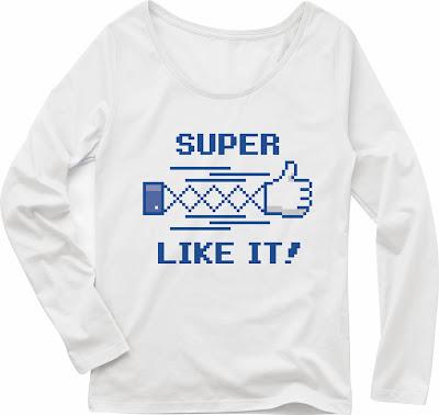 Pixel Party Boy「超いいね!」[Girls Boat-neck LongTee] ボートネック・ロングスリーブTシャツ 4.3oz | T-SHIRT COUNCIL