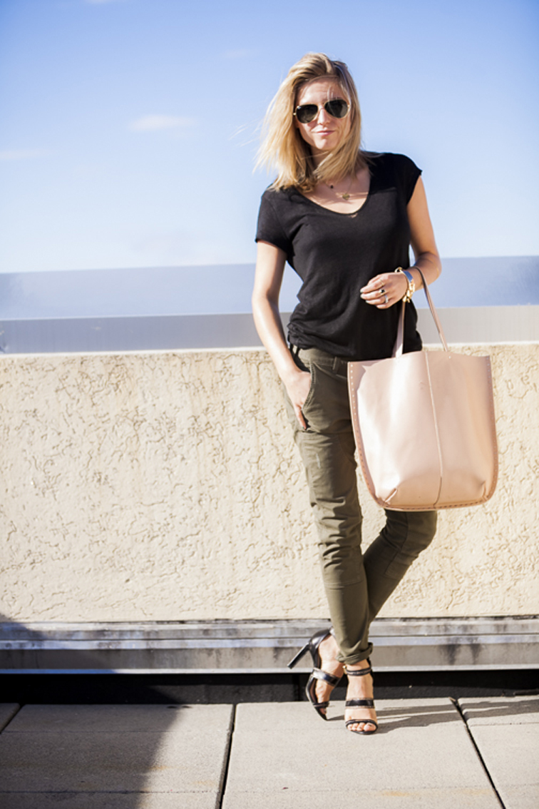 Rich & Skinny Dillon Utlity jeans burnt olive look give away