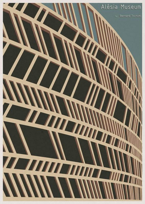 Posters de Arquitectura Minimalistas de André Chiote