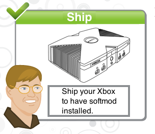 Ship original Xbox to install softmod