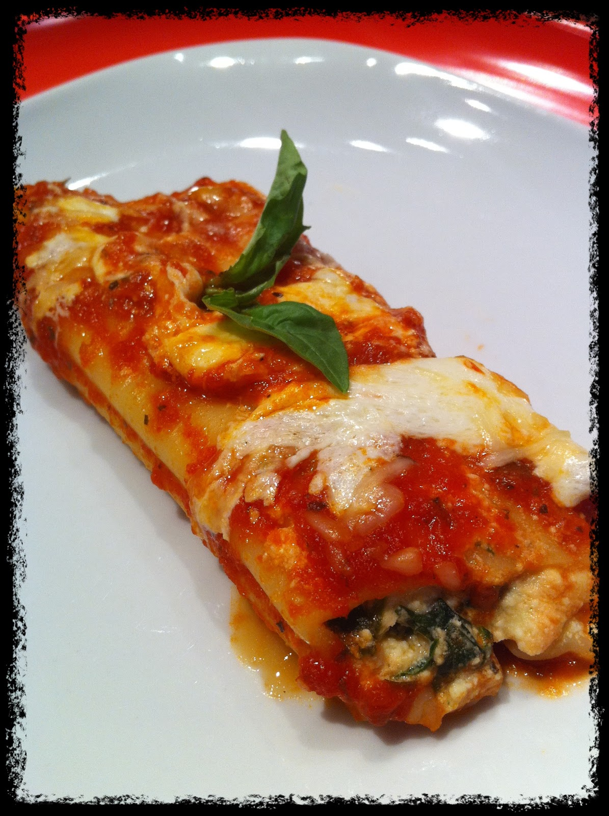 ... : Spinach, Mushroom & Italian Three Cheese Stuffed Manicotti