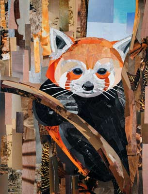 Firefox by collage artist Megan Coyle