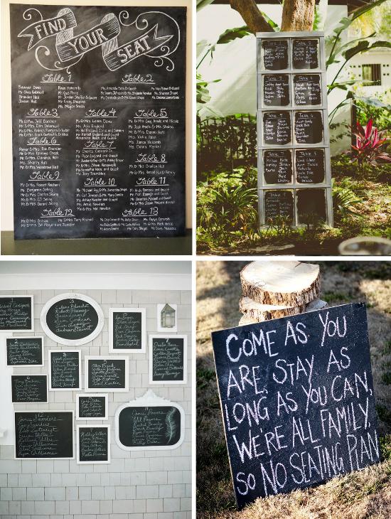 Wedding menu, chalkboard