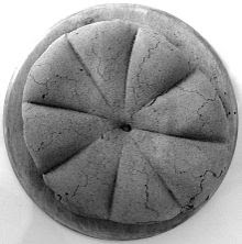 Restos de un redondo que se encontró en Pompeya