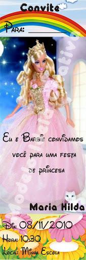 Convite Marca Página Barbie
