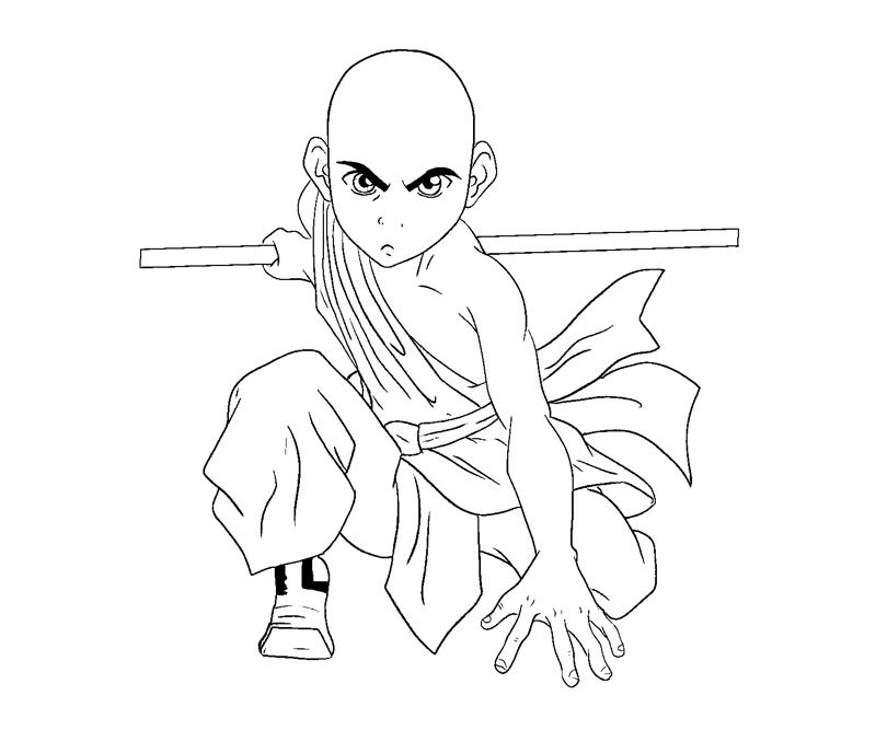 Printable Aang 4 Coloring Page
