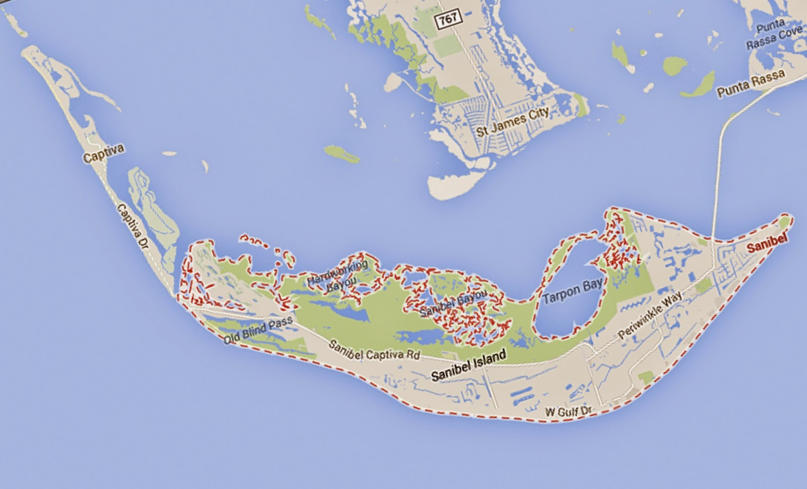Google Maps North Captiva Island