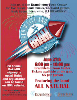 Red White & Bram Festival is an annual Independence Day celebration at Brambleton