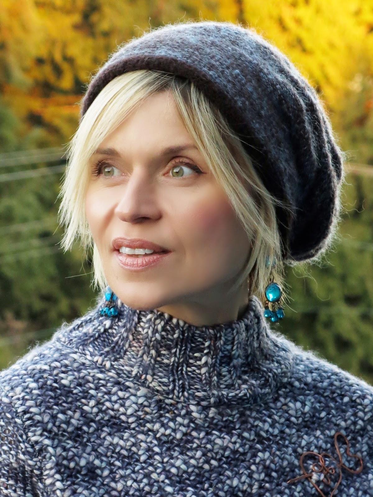 chunky sweater, woolen beanie