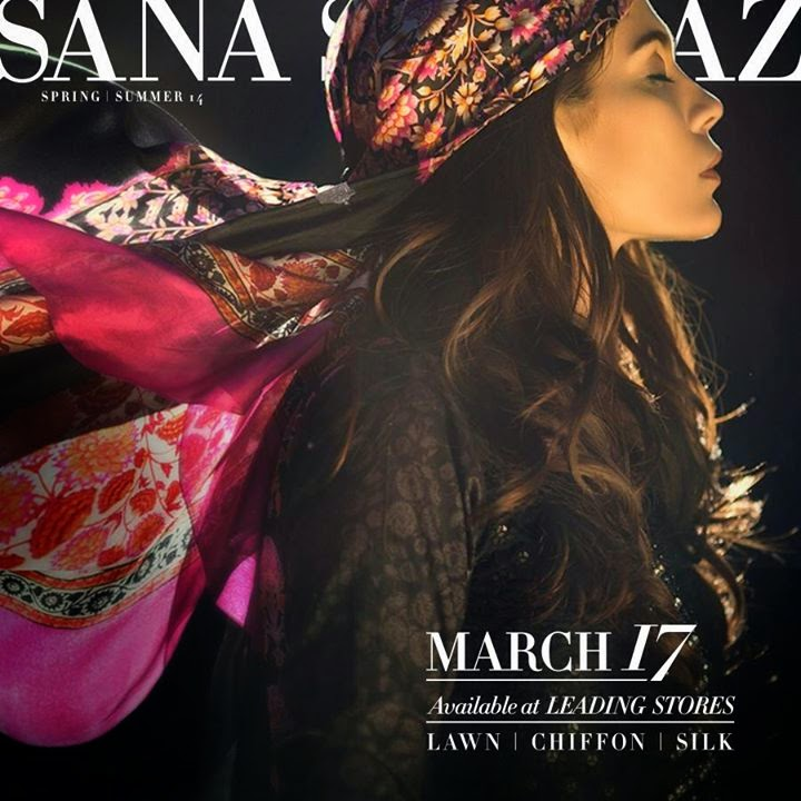 Sana Safinaz lawn comings soon 2014