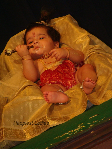 Lord krishna with butter churner