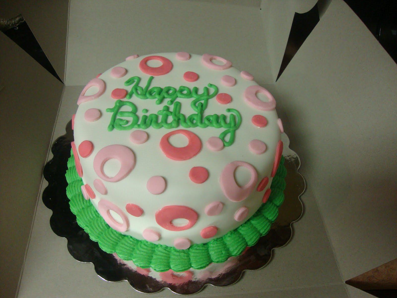 Charitys Sunshine Sweets Pink Green Birthday Cake