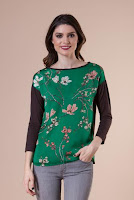 Bluza cu motive florale 3043 (Ama Fashion)