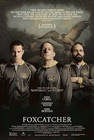 Movie poster with three characters and an eagle