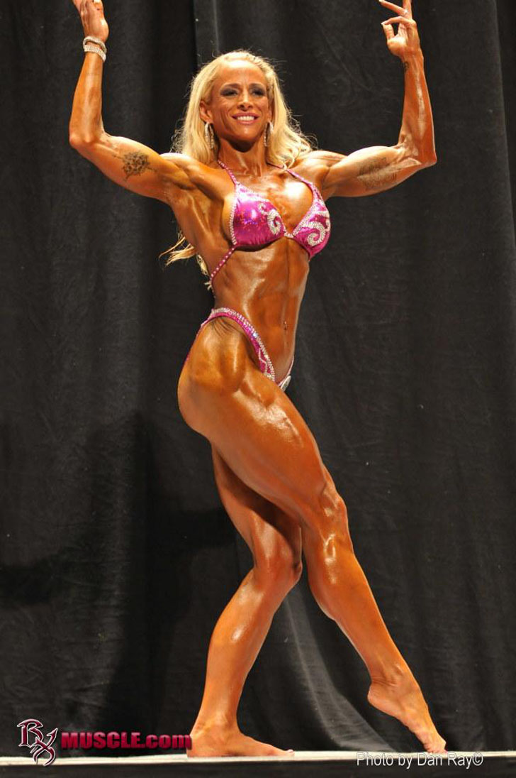 Jill Rudison Flexing Her Muscles At The 2011 NPC USA Championships